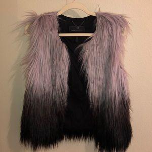 BCBG Fur Vest